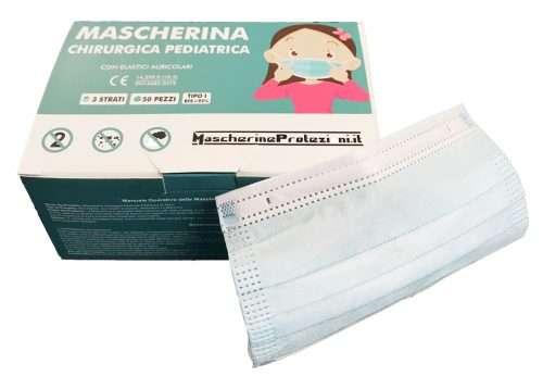 foto mascherina chirurgica pediatrica