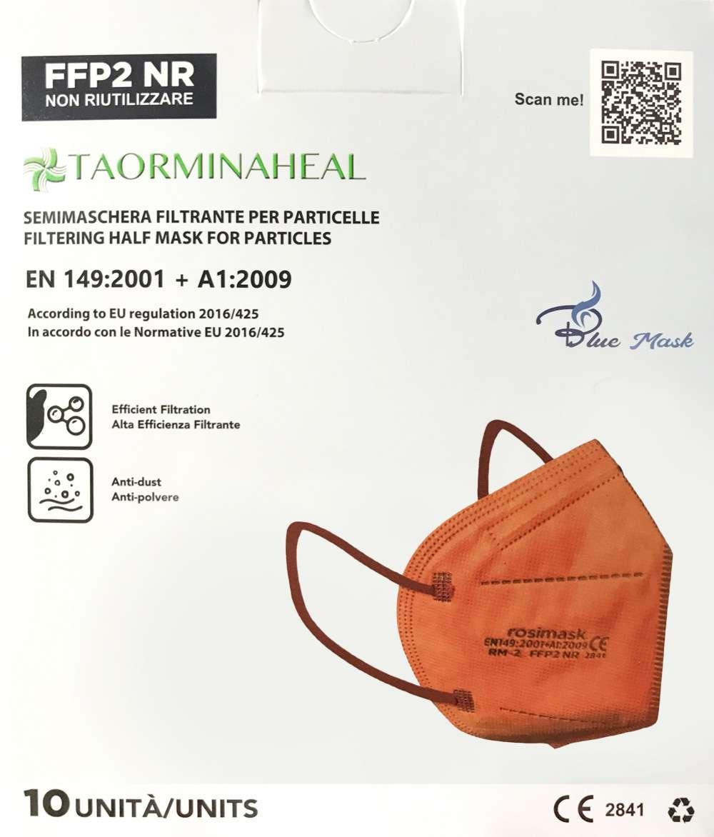 foto mascherina ffp2 arancio
