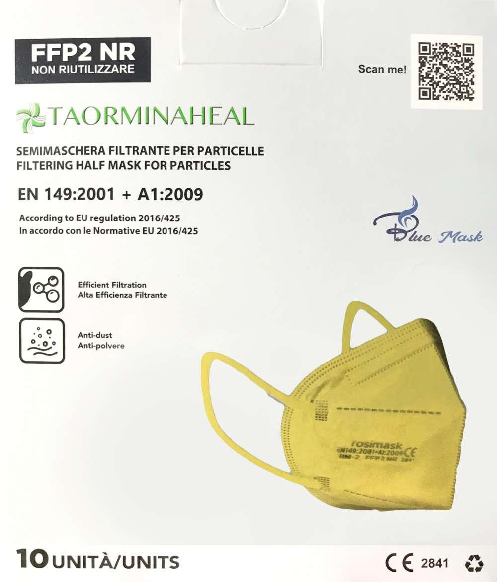 Foto mascherina gialla ffp2