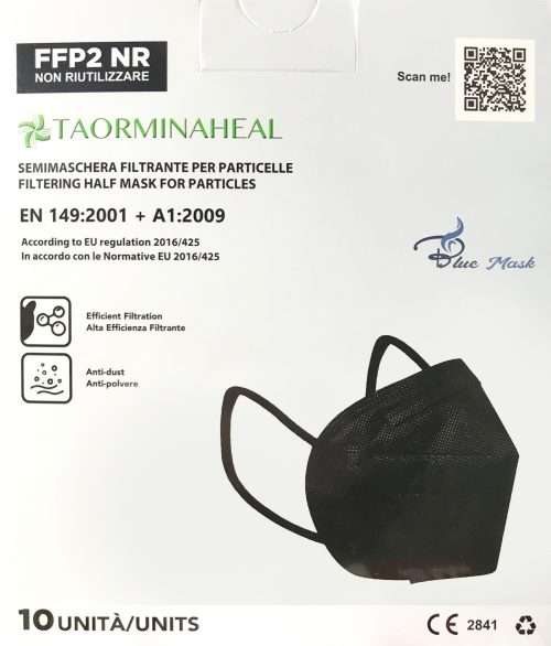 foto mascherina ffp2 nera