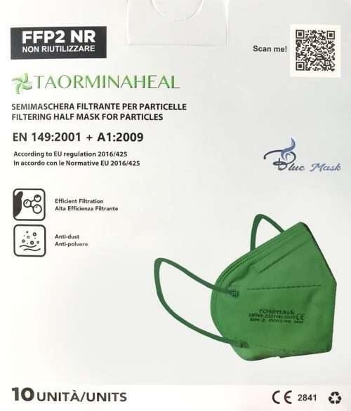 foto mascherina ffp2 verde
